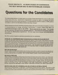 Questions for the Candidates