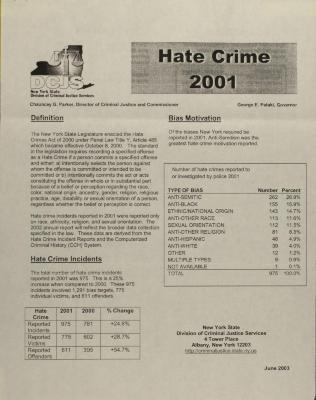 Hate Crime 2001