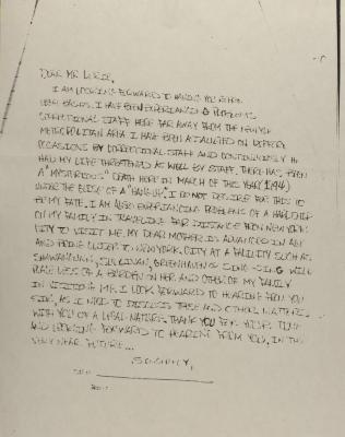 Correspondence from Félix Jorge, Jr.