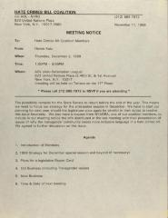 Hate Crimes Bill Coalition - Meeting Notice