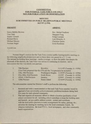 Minutes - Subcommittee on Public Hearings/Public Meetings
