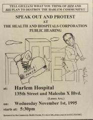 Speak Out and Protest at the Health and Hospitals Corporation Public Hearing