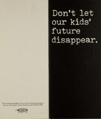 Don't Let Our Kids' Future Disappear