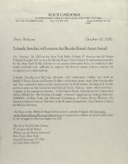 Yolanda Sanchez Will Receive the Brooke Russel Astor Award