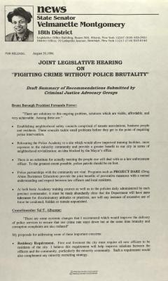 "Joint Legislative Hearing on ""Fighting Crime Without Police Brutality"""