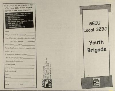 SEIU Local 32BJ - Youth Brigade