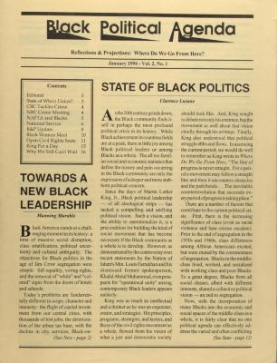Black Political Agenda