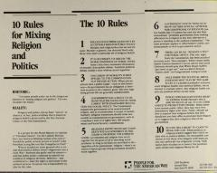 10 Rules for Mixing Religion and Politics
