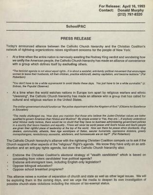 SchoolPAC - Press Release