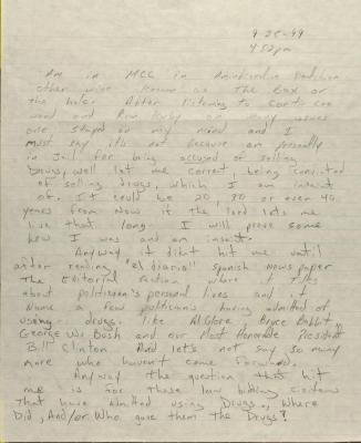 Correspondence from Metropolitan Correctional Center