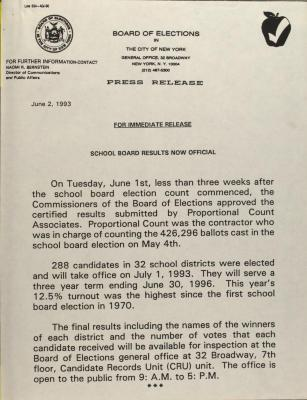 School Board Results Now Official