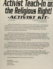 Activist Teach-In on the Religious Right