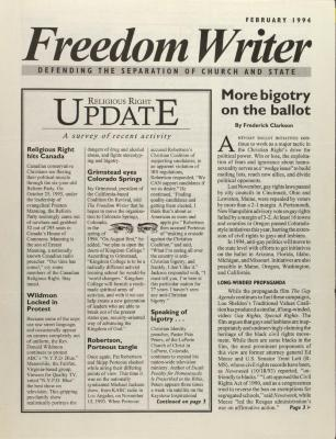 Freedom Writer: Defending the Separation of Church and State