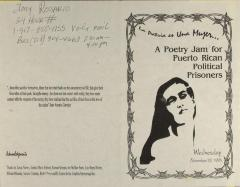 La Patria Es Una Mujer (The Homeland is a Woman) - Poetry Jam For Puerto Rican Political Prisoners