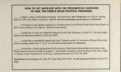 How To Get Involved With The Proliberdad Campaign To Free The Puerto Rican Political Prisoners