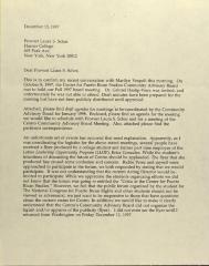 Correspondence from Centro Advisory Board