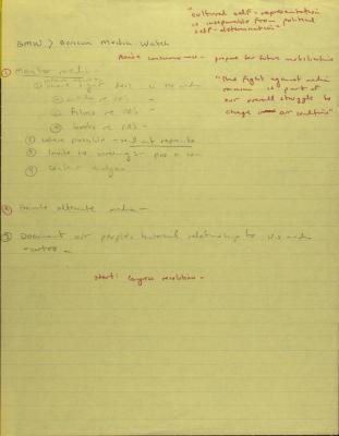 Boricua Media Watch, Planning Notes