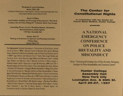National Emergency Conference on Police Brutality and Misconduct