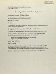 Retreat Agenda & Schedule For Wednesday, June 14