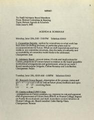 Agenda & Schedule