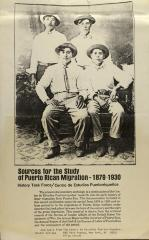 Sources for the Study of Puerto Rican Migration