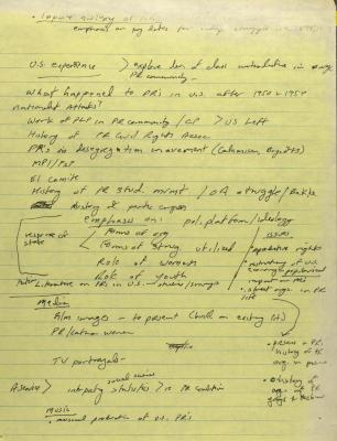 Notes on the Center for Puerto Rican Studies