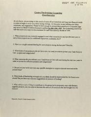 Centro Fundraising Committee Questionnaire