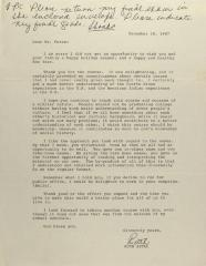 Correspondence from Ruth Setal