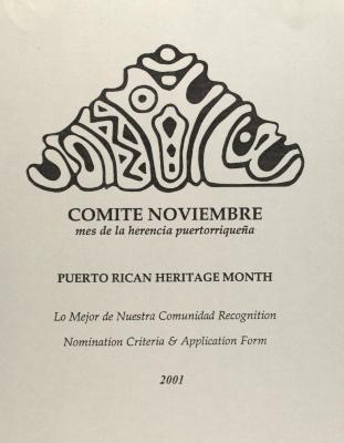 Comité Noviembre - Mes de la Herencia Puertorriqueña / Puerto Rican Heritage Month - Lo Mejor de Nuestra Comunidad Recognition