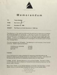 Memorandum from Arcos Communication
