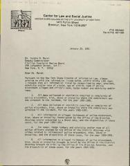 ​Correspondence from the Center for Law and Social Justice at Medgar Evers College