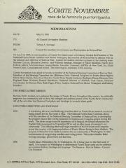 Memorandum from Comité Noviembre