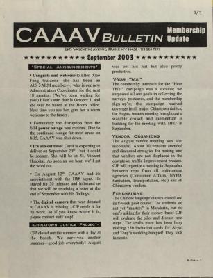 CAAAV Bulletin