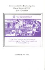 Centro de Estudios Puertorriqueños 30th Anniversary