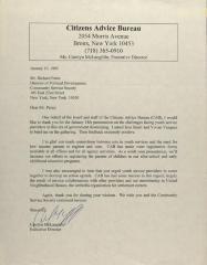 Correspondence from Citizens Advice Bureau