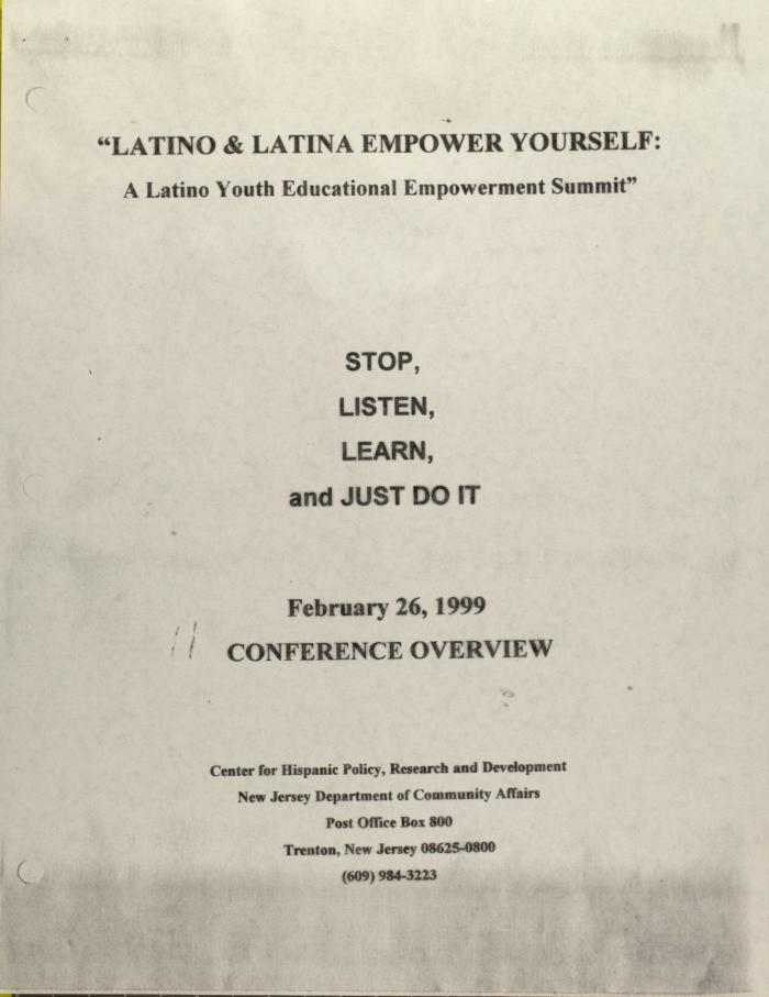 Latino & Latina Empower Yourself: A Latino Youth Educational Empowerment Summit