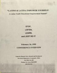 Latino & Latina Empower Yourself: A Latino Youth Educational Empowerment Summit