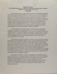 Request For Support - Felon Disenfranchisement: Community Education and Mobilization Campaign