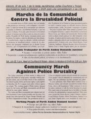 Marcha de la Comunidad Contra la Brutalidad Policial / Community March Against Police Brutality