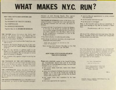 Como Funciona N.Y.? / What Makes NYC Run?