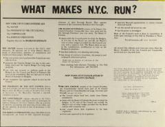 Como Funciona N.Y.? / What Makes NYC Run?