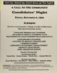 Una Llamada a la Comunidad - Noche Para los Candidatos / A Call to the Community - Candidates' Night