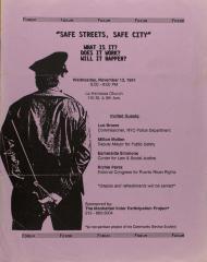 Calles Seguras, Ciudad Segura / Safe Streets, Safe City