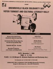 Brownsville Black Solidarity Day - Voter Turnout and Cultural Literacy Rally