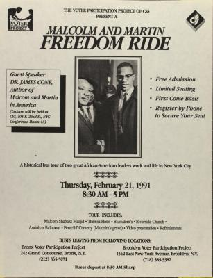 Malcolm and Martin Freedom Ride
