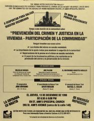 Prevención del Crimen y Justicia en la Vivienda - Participación de la Comunidad / Crime Prevention and Housing Justice - Citizen Involvement