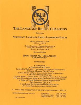 Stop English Only, The Language Rights Coalition