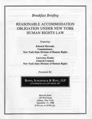 Reasonable Accommodation Obligation Under New York Human Rights Law