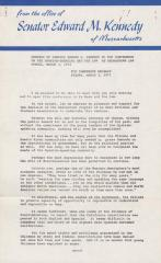 Speech by Senator Edward M. Kennedy to the Conference on the Spanish-Speaking and the Law