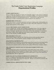 The People United Voter Registration Campaign - Organizational Profiles